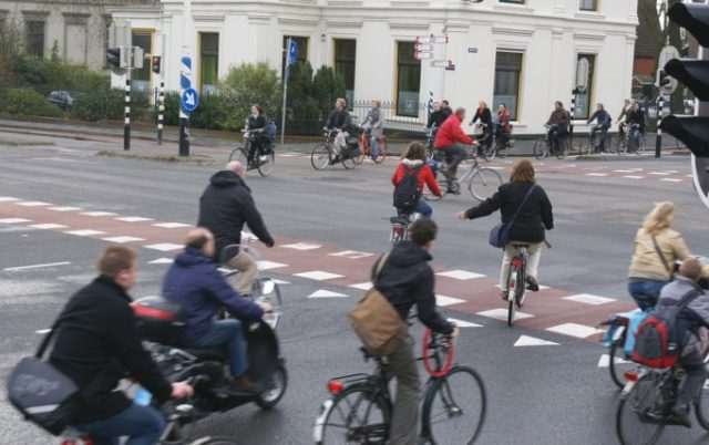 No carbon, lycra or helmets, but bikes every where, could this be a common sight in the UK? Photo courtesy of Fietsberaad