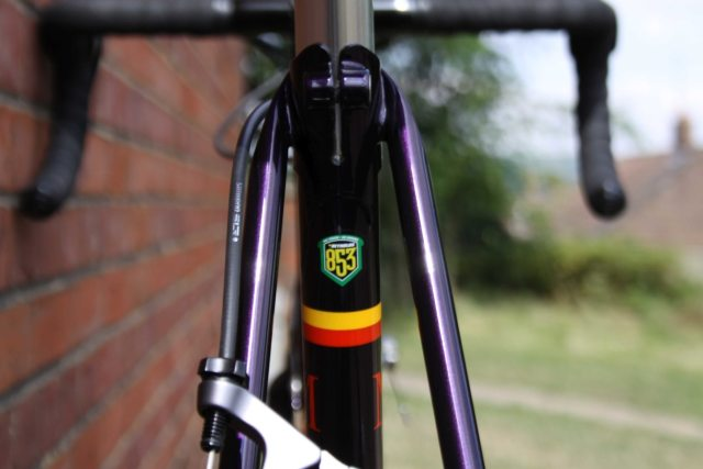 Reynolds 853 tubing was used for the Malcolm Custom Bicycles' Custom Steel Frame