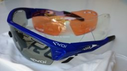 The photochromatic lenses work best in spring/autumn sun. They will change depending on light levels during your ride