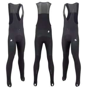 The Morvelo Stealth Stormshield bib tights also come in goes with everything black. Photographs ©Morvelo