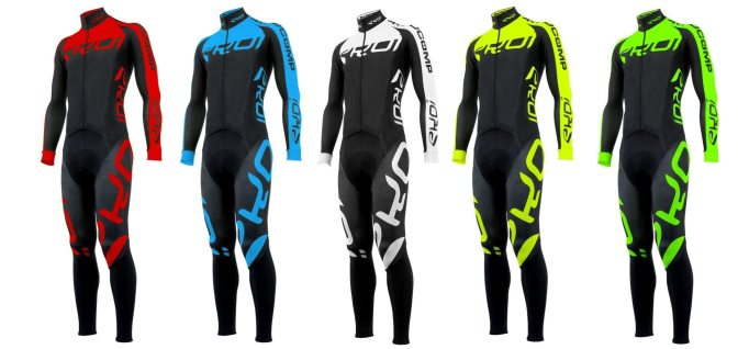 The Ekoi Aerocomp Thermal Suit comes in a range of bright, strong colours.