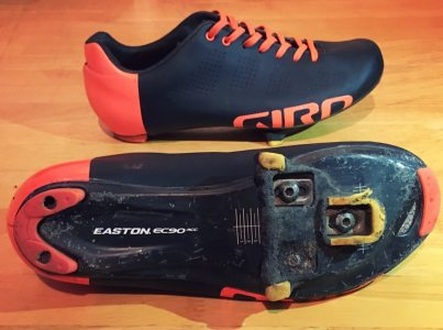 Replaceable heel counters on the Giro Empire road shoes