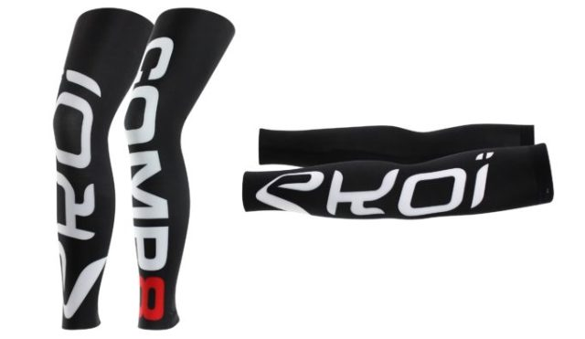 The graphics are big and bold, but leg and arm warmers are a must have in a cyclist's wardrobe