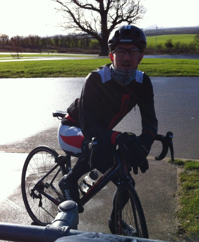 Unable to wheelie, but keen to race, our intrepid writer before his first road race