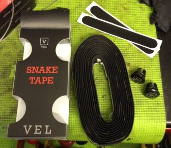 The Vel Snake bar tape has a Dura-Polymer that helps reduce vibrations