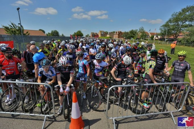 That's the front of the Tour of Cambridgeshire Gran Fondo, the back is a long way away!