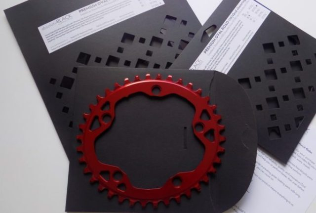 The absoluteBLACK chainrings come packaged in attractive and environmentally friendly card packaging, a nice touch