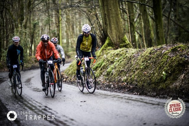 Riders tackle the grippy Sussex lanes of the Spring Classic. Photo courtesy of Light Trapper