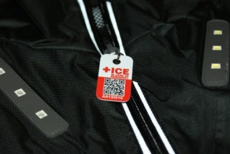 An ICEid tag is included with the Visijax LED Commuter Jacket. in the case of an accident your emergency details can be quickly accessed by the emergency services