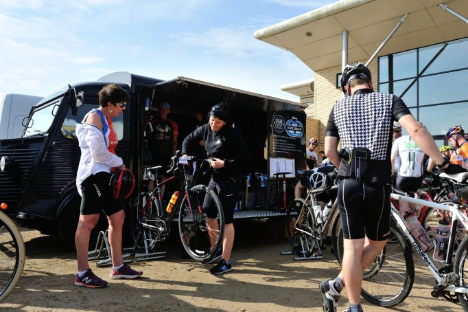 The Urban Cycles team were on hand to help with any last minute emengencies