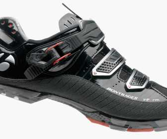 The Bontrager RXL MTB shoe, in classic, mud friendly black