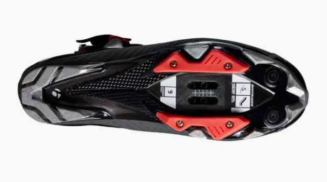 The RXL's sole is a carbon/fibre glass composite and is a 9 on Bontrager's stiffness scale, which goes all the way to 12