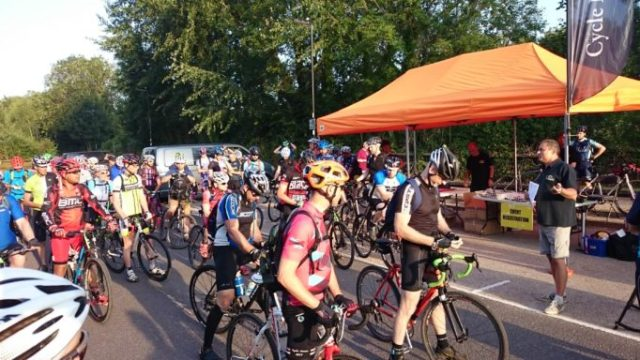 Riders ready to set off on the CX Century