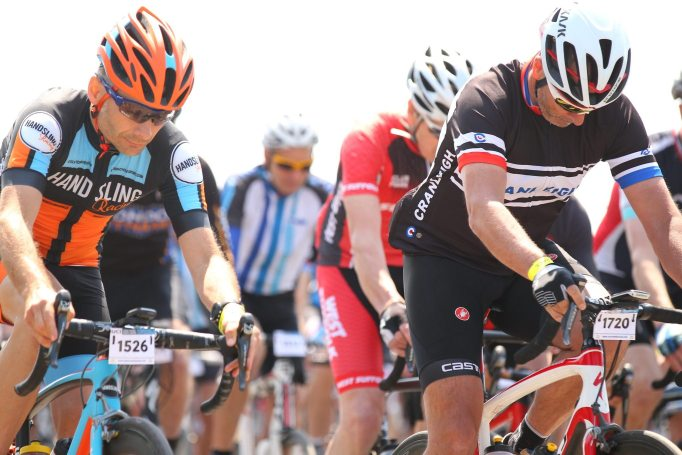 As the Tour of Cambridgeshire 2016 gets underway, one sneaky vet has managed to insert himself on the front of the bunch!