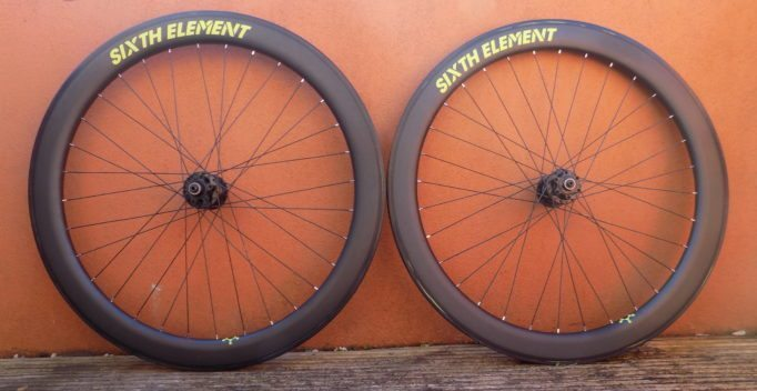 The Sixth Element Cross wheelset, ready for action