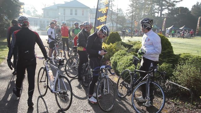 It was a cold start for the Wiggle Ups and Downs sportive. Photo courtesy of Wiggle