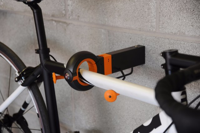 The Hangman Secure Cycle Storage system is a neat solution to your bike storage problems