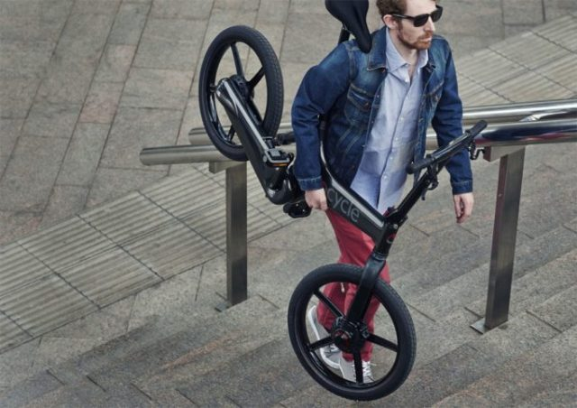 At just over 16kg, the Gocycle is fairly portable