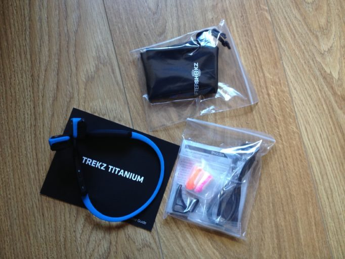 What's in the bag? The Trekz Titanium include various size adaptors to fine tune your fit