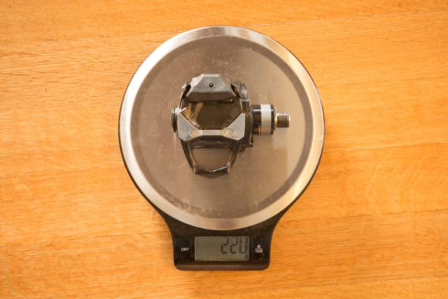 What's the weight penalty for pedal based power gauges? 220 grammes