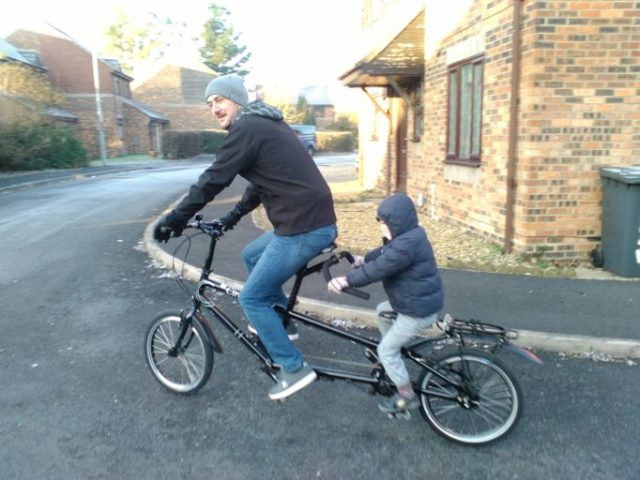 On a tandem children can ride further and faster; more fun all round!