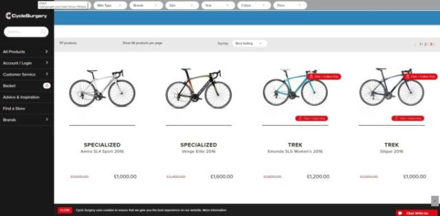 Cycle Surgery Sale