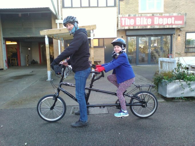Little and large take to the road, but will the stoker be pedalling?