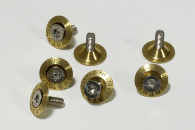 Brass washers and steel torx bolts