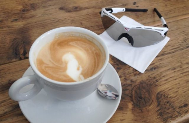 Perfect for the mid-ride coffee pose