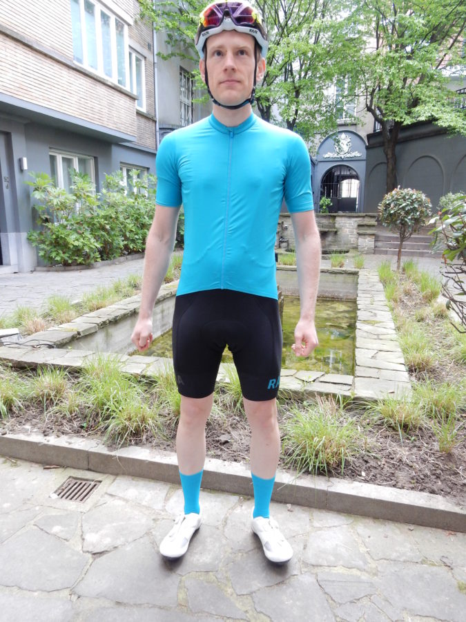 The Rapha Pro Team II jersey is understated in a colourful way!