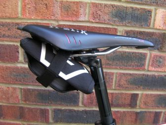 You can store in under your saddle or in your jersey