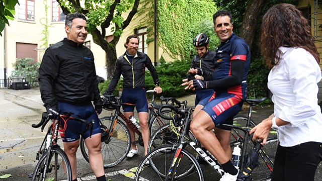 Some riders got to try the PZero Velo tyres on the Paris-Modena sportive