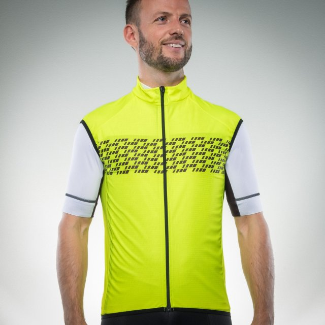 The GripGrab gilet comes in four colours including this Hi-viz option