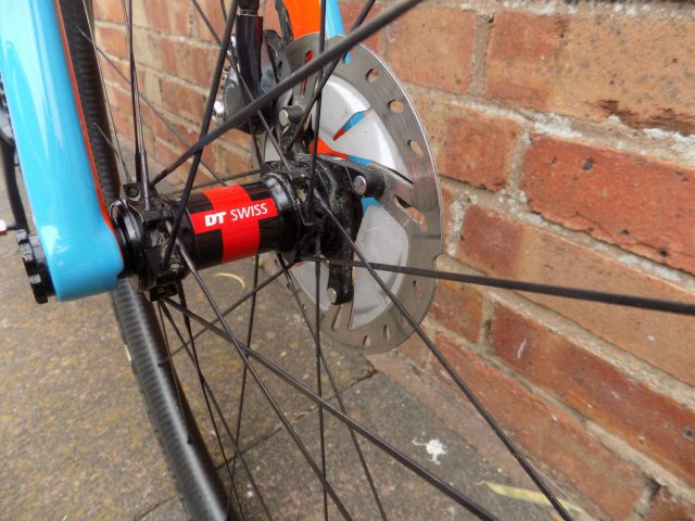 These were an early set of Handsling's own wheels. They now supply them with their own hubs