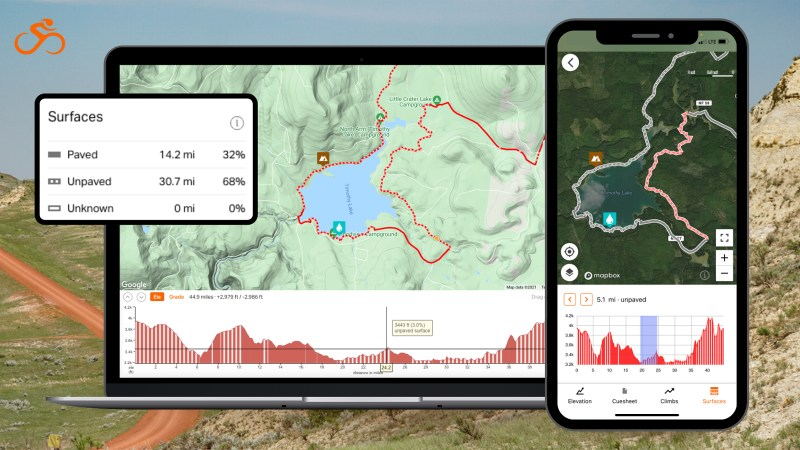 Ride with GPS launches surface type feature