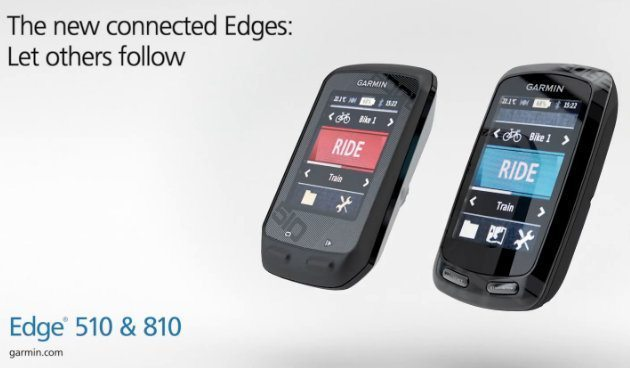Garmin Edge 810 and 510 shot