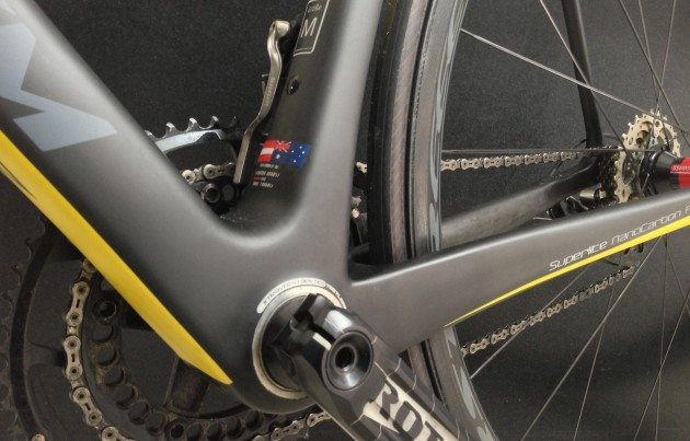 Race SL Nano Light, beefy chainstays and SRAMs chaincatcher
