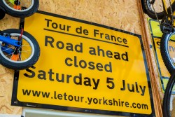 Tour de France memorablia at Firebox Cafe