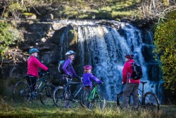 Mountain bikes at East Gill Force