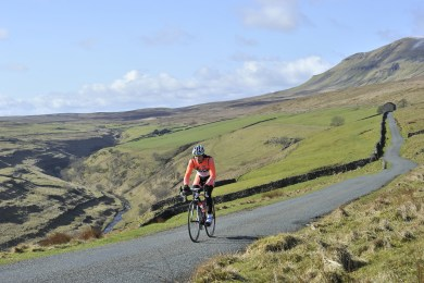 Road riding alongside Halton Gill