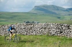 Mountain biking past Pen-y-ghent