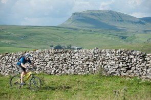 Mountain biking past Pen-y-ghent