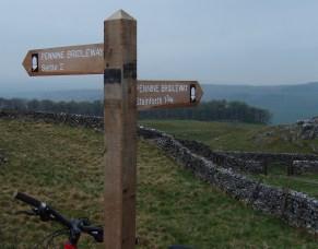 Pennine Bridleway fingerpost