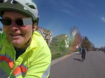 We started in the burbs, but it felt great to be on the road again, after a winter with few long rides.