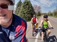 It was a perfect spring day for a bike ride.