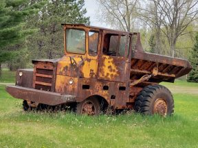 This is a truck from the early days of mining in Cayuna.