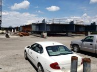 The beam passed the car is massive, another ambitious river project.