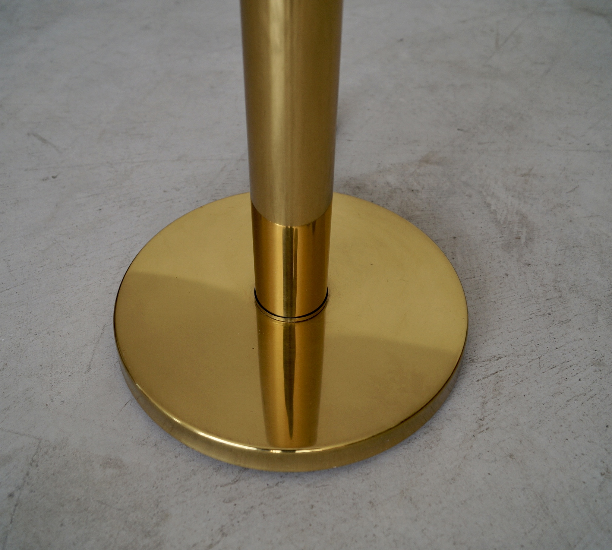 Mid-century Modern Brass Torchiere Floor Lamp – Cyclic ...