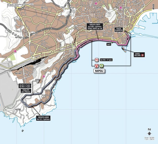 Giro d'Italia 2013 Stage 1 map