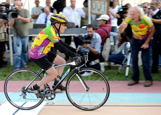 100-year-old Robert Marchand set 100km cycling record